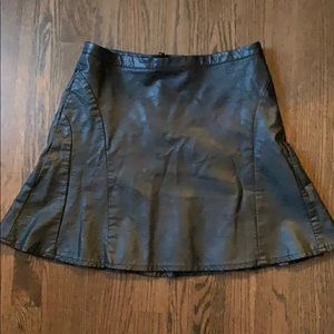Faux leather a-line mini skirt, size 6